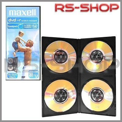 10 + 2 = 12  MAXELL 8CM DVD-R 30 MIN 1.4GB For Camcorders /Slim Jewel Cases of 4