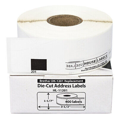 1 Roll of DK-1201 Brother-Compatible Address Labels BPA FREE