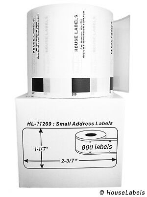 2 Rolls of DK-1209 Brother-Compatible Small Address Labels [BPA FREE]