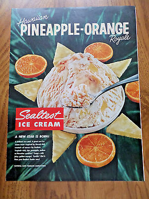 1960 Sealtest Ice Cream Ad  Hawaiian Pineapple-Orange Royale