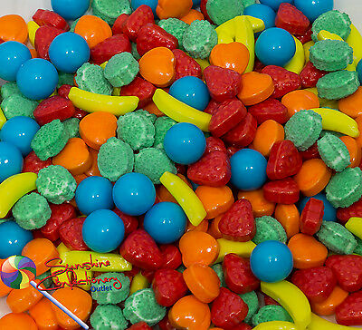 Mini Candy Fruit  Lollies-370gm Children Party Sweets, Lollies,Candies Post Incl