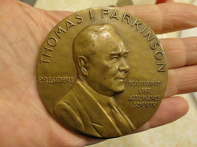 1952 Equitable Life Bronze Table Medal / Named & Engraved