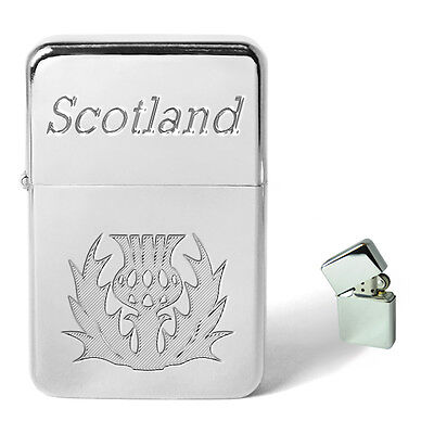 Scottish Scotland Thistle Lighter Personalised Engraved Birthday Present Gift