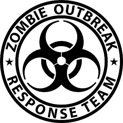 Zombie Outbreak Response Team Biohazard vinyl sticker decal choose size & color