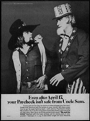 "1978 Johnny Paycheck ""georgia In A Jug"" Album Promo Ad"