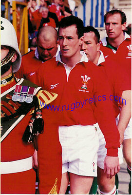 "ROB HOWLEY WALES COLOUR RUGBY ORIGINAL PHOTOGRAPH 10"" x 8"""