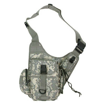 Tactical Patrol Combat Utility Army Pack Shoulder Bag 9 Pockets Acu Digital Camo