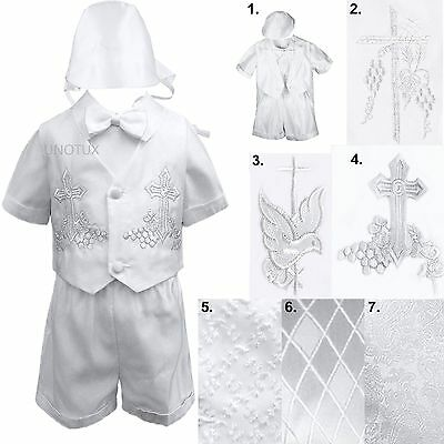 Infant Toddler Boys Baptism Christening Vest Tuxedo Suit Outfits from Baby to 4T