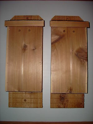 "Cedar Bat House 2- Pack Solid 7/8"" Rough Sawn Red Cedar Lowest $$ Free Shipping!"