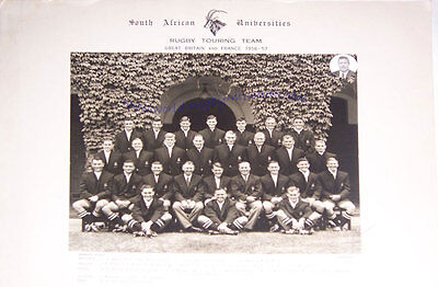 South African Unis 1956-57 Vintage Mounted Original Rugby Team Photograph