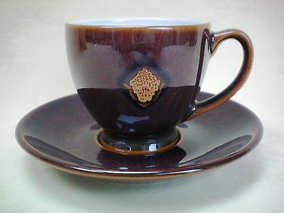 Denby Shiraz Demi Tasse Coffee Cup & Saucer Several Available Excellent Cond