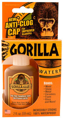 Gorilla Glue 2oz 59mL Waterproof Super Strong Stainable Paintable Solvent Free