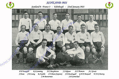 SCOTLAND 1921 (v France, 22nd January) RUGBY TEAM PHOTOGRAPH