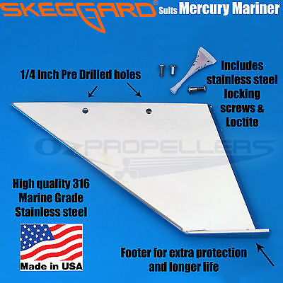 MERCURY OUTBOARD SKEG GUARD, MARINER SKEG GUARD, SKEGGARD *Quality USA Made*