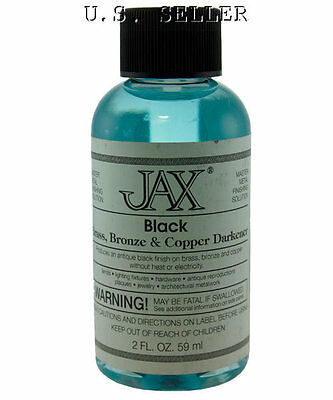 Antique Blackener For Brass, Copper, And Bronze 2 oz By Jax