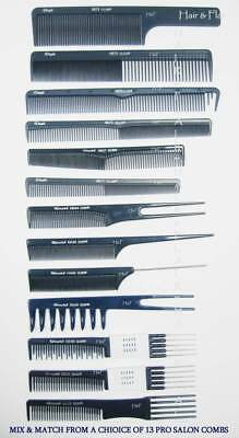 Hair Combs Professional Salon  All Types - Cutting Pin Tail Backcombing Barbers