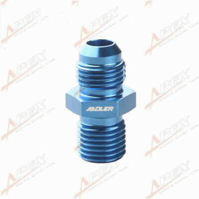 Male -6 AN 6AN Flare To M14 x 1.5 (mm) Metric Straight Fitting Blue