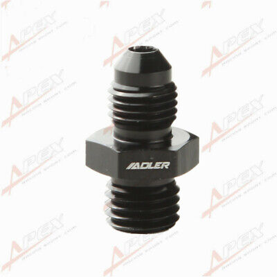 Male -4 AN 4AN Flare To M12 x 1.5 (mm) Metric Straight Fitting Black