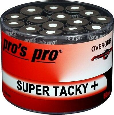 60 x Pro's Pro Super Tacky + Overgrips - Black