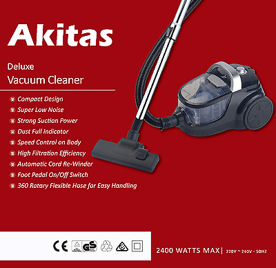 JapanAkitas Pro Upright Bagless Cyclone LW Vacuum Cleaner Brand New Postage Free