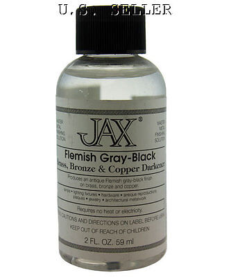 Flemish Gray-Black Finish For Brass And Copper Etc 2oz By Jax