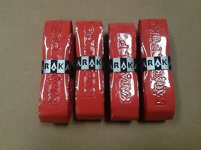 4 x RED KARAKAL PU SUPER GRIP
