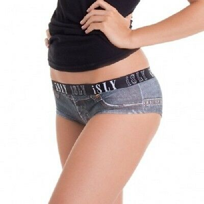 isly women's designer underwear panties briefs knickers...denim