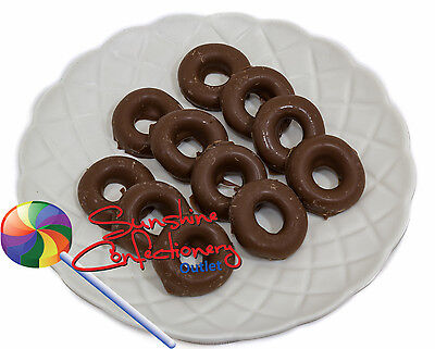 MILK CHOCOLATE ANISEED RINGS-370 grams - aniseed flavoured jellies Post Include