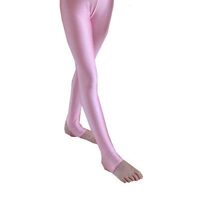 LIGHT PINK Stirrup Tights AGE 10-ADULT, Thick Nylon Lycra Girls Dance Tap Ladies