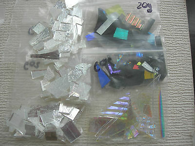20g Genuine COE 90 CBS Bullseye Dichroic Kiln Glass Fusing Pieces clear Black