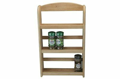 Apollo Wooden Hevea Rubber Wood Herbs Jar Holder Rack Stand 3 and 2 Tier Kitchen