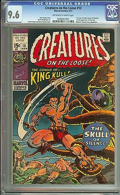 Creatures On The Loose #10 Cgc 9.6 Ow/wh Pages// First Issue Of Series
