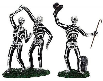 Dancing Skeletons Set Of 2  #72377 Lemax Spooky Town Collection