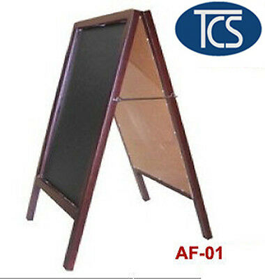Brown Woody Frame with Black Text Board A SIGN