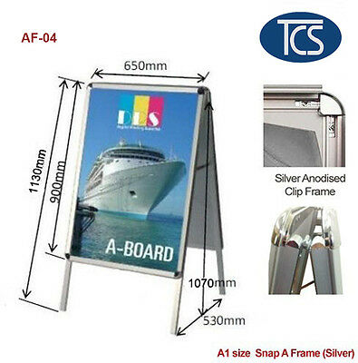 TCS A1 Clip Double Snap A Frame Board Display Sign Poster Stand 32mm Frame