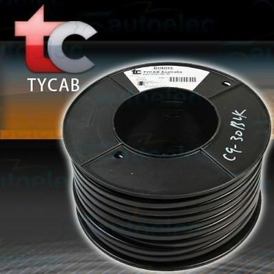 6MM DUAL BATTERY TWIN CORE CABLE BLACK x 30M 50 AMP ROLL 30 METER 12V 2