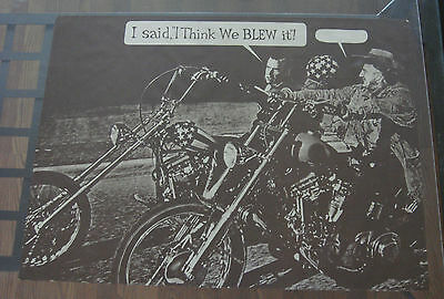 Vintage Political Easy Rider Spoof Poster Nixon Agnew Chopper Think We Blew It