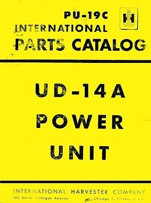 International Harvester McCormick UD-14A UD-14 A Power Unit Parts Catalog Manual