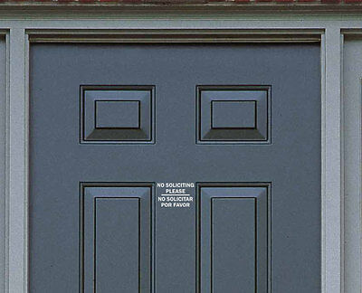 No Soliciting Sign Vinyl Decal Sticker - Door Window Wall - You Pick the Color!