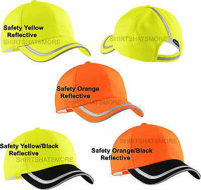 CoolMax Hat High Visibility Safety Cap Yellow Green Orange Reflective  Taping NEW f73e7abe6ca9