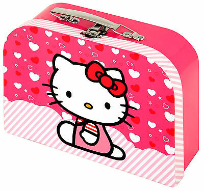 hello kitty vanity case make up set plus 4 nail polishes in an organza bag. Black Bedroom Furniture Sets. Home Design Ideas