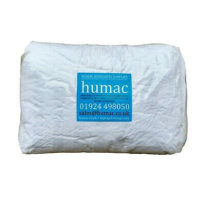 700g White Lint Free Cotton High Quality Polishing Cloths Rags Wipes Bag