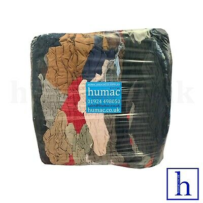 General Purpose Industrial Wipes Rags Cloths Mix Cotton Wiper 10kg - HUMAC