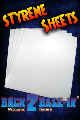One (1) A4 x 2mm High Impact Styrene Plasticard Sheets 300mm x 210mm White