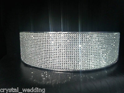 Crystal Diamante wedding cake stand display pedestal  +3 meters of cake trim