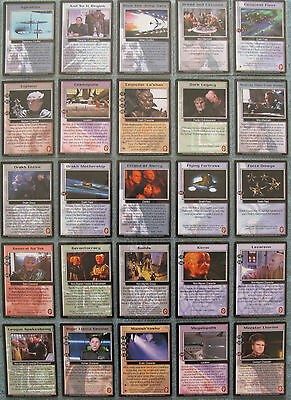 Babylon 5 CCG Wheel of Fire Uncommon Card Selection [Part 1/2]