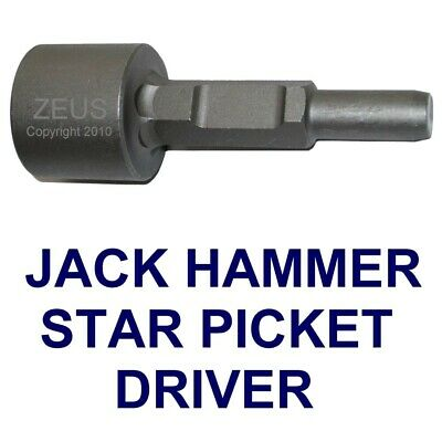 Jack Hammer Star Picket Fence T Post Driver Jackhammer Chisel Ramming Attachment