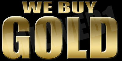 2'x 4' 13oz Full Color Vinyl Banner, Includes Grommets - WE BUY GOLD BANNER BK-