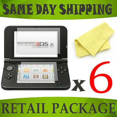 6 x anti scratch screen cover guards films foil for Nintendo 3DS XL SPM7800