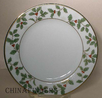 """NORITAKE china HOLLY and BERRY GOLD pattern # 4173 Bread & Butter Plate 6 3/8"""""""